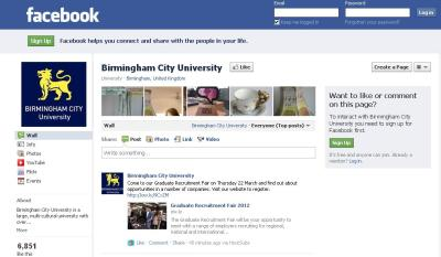 Picture of BCU Facebook page